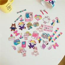 37 шт/компл ins милая розовая девушка декоративная наклейка