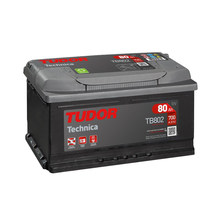 Tudor TB802 Batería de coche - 12 V 80Ah 700 A (EN) - Positivo a la Derecha - Medidas: 31,5 X 17,5 X 17,5