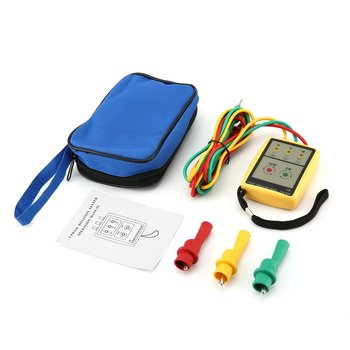 цена на JTW JTW-8030 Portable 3 Phase Sequence Meter Multimeter Presence Rotation Tester Phase Indicator Detector Meter LED Buzzer