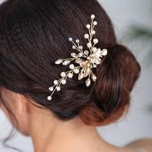 Casual Hair pin Gold Headdress Handmade Banquet Headpieces hair accessories for women