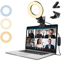 Protable Selfie טבעת אור עבור מחשב נייד מחשב שולחני Youtube טבעת מנורת וידאו 3 צבע מצבים LED תאורה עם בעל קליפ # g3