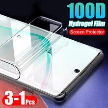 1-3 шт 100D мягкая Гидрогелевая пленка для samsung Galaxy Note 10 8 9 Pro S8 S9 S10 PLus S10E полная защита экрана(не стекло
