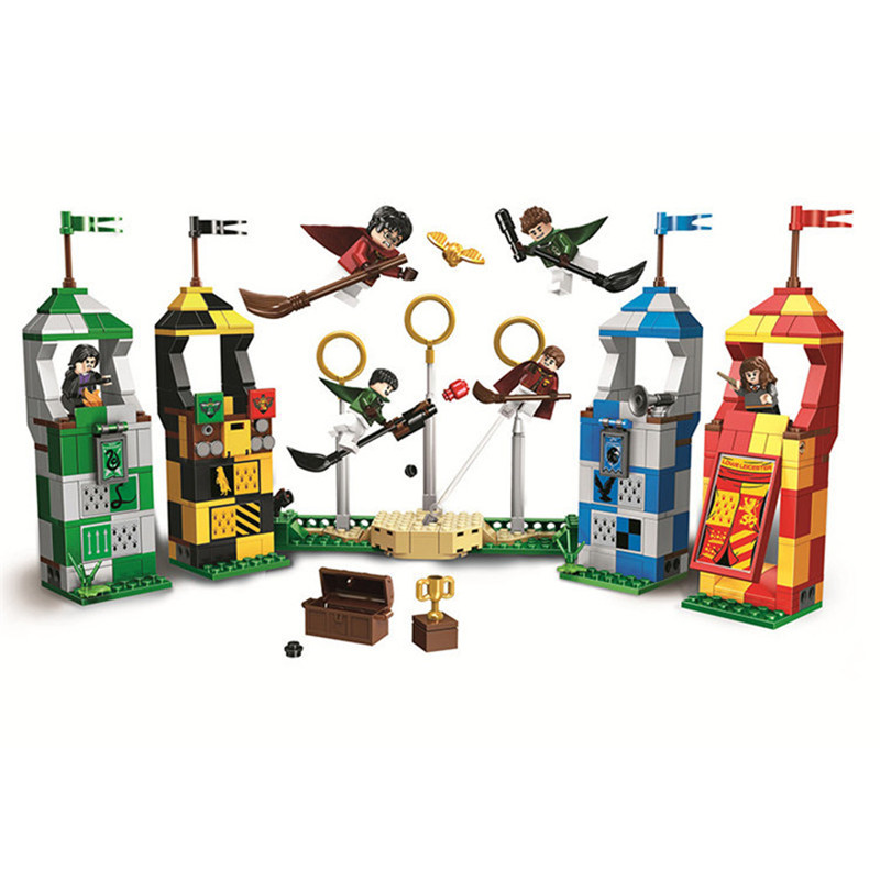 In Stock 2019 New Quidditch Match <font><b>Castle</b></font> Compatible <font><b>Legoinglys</b></font> Bricks Character Movie Quidditch Match Building Blocks Brick Toy image