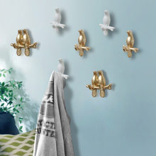 1 Pcs 3M Resin Self adhesive Bird Mold Coat Bag Clothes Hanger Hook for Decoration Wall Hook for Bathroom Accessories