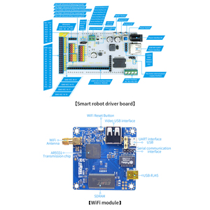 Image 4 - Programmable TH WiFi Bluetooth FPV Tank Robot Car Kit with Arm for  Arduino MEGA   Line Patrol Obstacle Avoidance Version Large