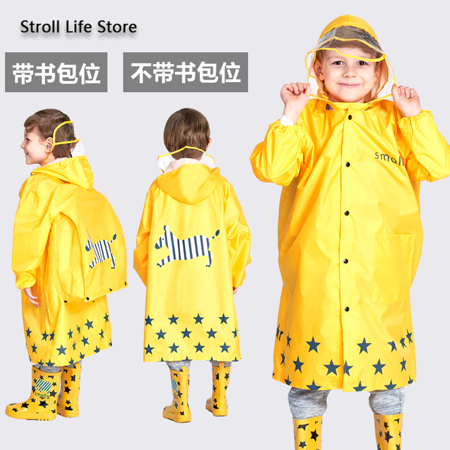 Girl Thickened Rain Coat Kids Yellow Rain Poncho Boy Cute Children Raincoat Rain Jacket Partner Waterproof Suit Impermeable Gift 4