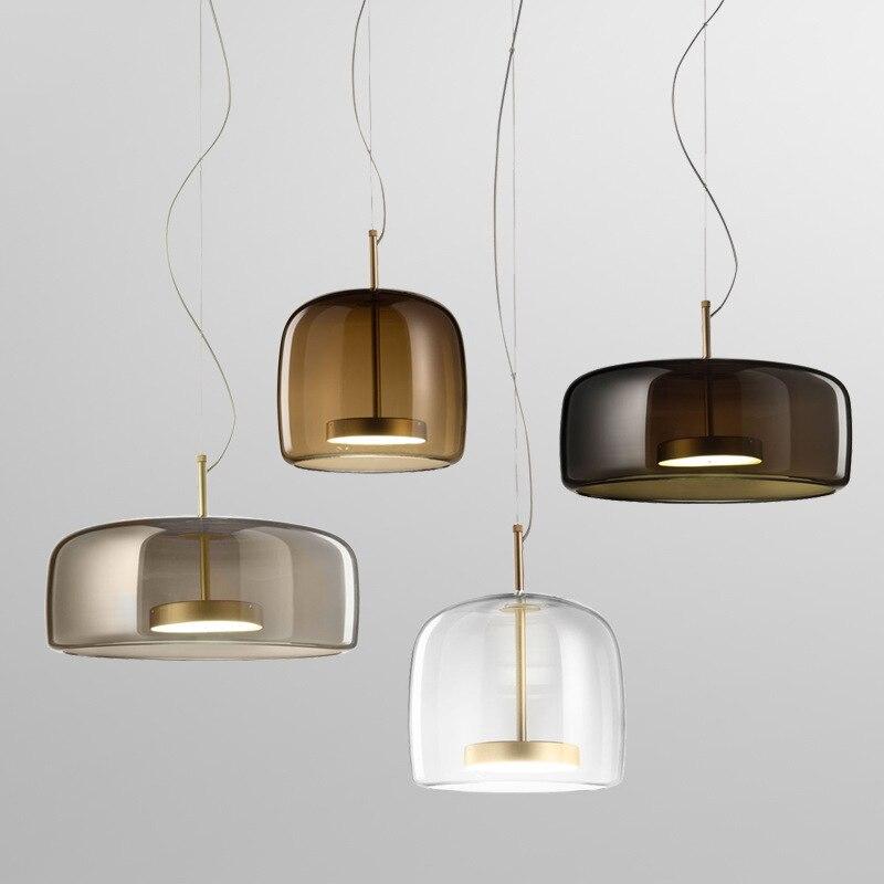 Nordic Modern Individual Glass Chandelier Lights Hotel Designer Simple Hanglamp Bar Living Room Bedroom Model Room Hanging Lamp