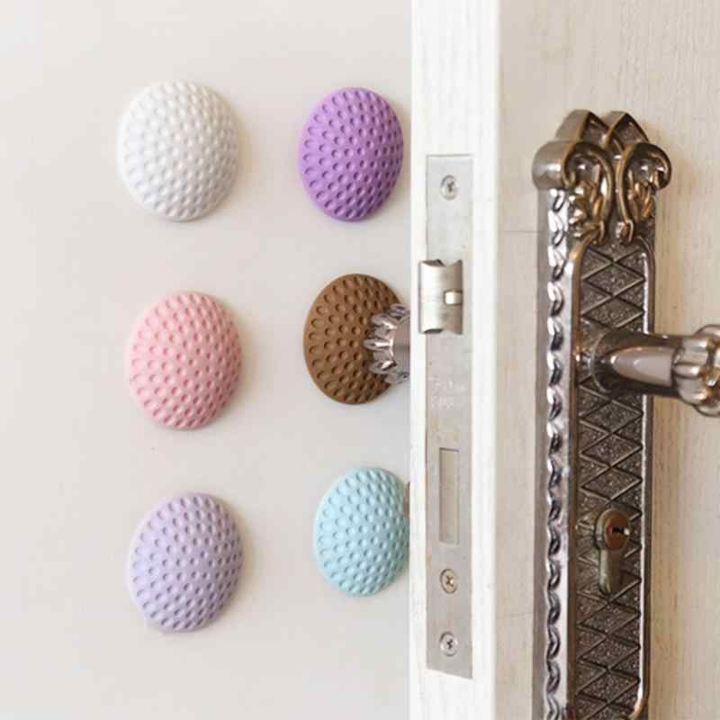 Rubber Door Buffer Wall Protectors Door Handle Bumpers Stopper Anti-collision Sticker Thicken Household Accessories