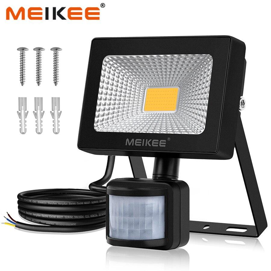 10W LED Flood Light With Motion Sensor 1000lm Super Bright LED Floodlight Waterproof Outdoor Spotlight For Garden Garage