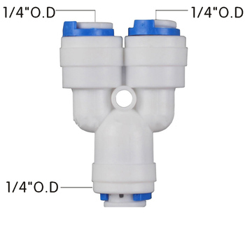 цена на 1Pcs Reverse Osmosis Quick Coupling Hose Y Connector 2 Way RO Water Plastic Pipe Fitting Pneumatic Fittings Water Parts