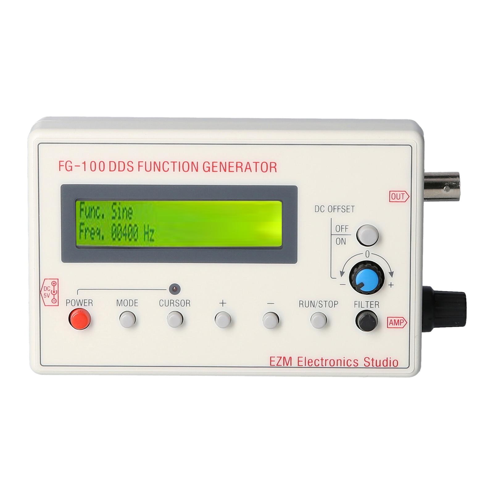 Генератор сигналов DDS с ЖК-дисплеем, 1 Гц-500 кГц, синусоидальный треугольник, квадратная волна, Пилообразная волна, счетчик частоты