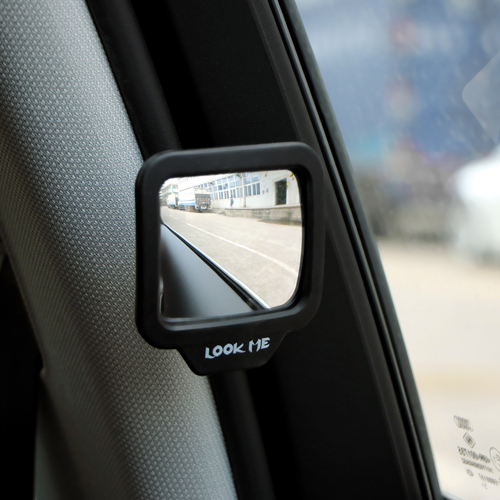 Car Rear Magnet Mirror 270 Degrees Wide Angle Car Auxiliary Rearview Mirror Eliminate Blind Point for Car Safety Universal