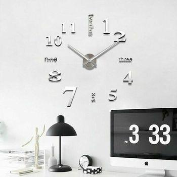 Modern DIY 2019 new real living room clocks 3d mirror sticke Big wall clock home decoration acrylic diy watch stickers 1