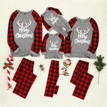 Christmas Family Pajamas Set Cotton Cartoon Print Baby Kid Dad Mom Matching Family Outfit Sleepwear Parent-child Pajamas Outfits