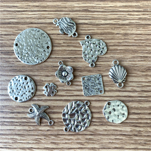 Bohemian Antique Silver Heart Metal Charms for Making Jewelry Earrings Findings  Connectors for Jewelry Diy Earring Settings new 50pcs lot gold silver color water drop shaped copper accessories connectors for diy handmade jewelry earring making findings