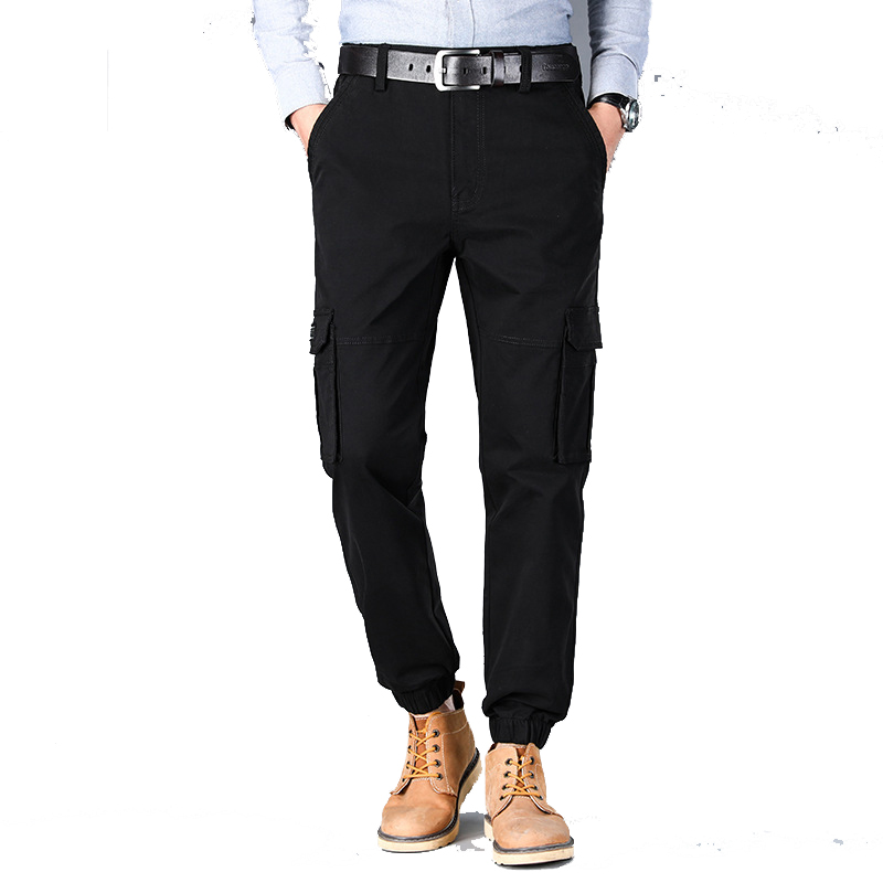 2019 autumn new men's Slim fit outdoor casual tooling multi pocket  small feet leg pants Plus Size fashion cotton long pants New|Safety Clothing| |  - title=