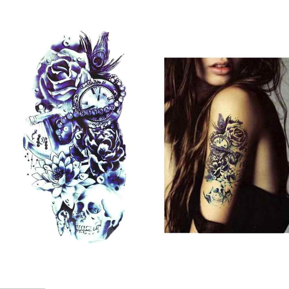 Frauen Wasserdichte Tattoo Aufkleber Bunte Tiere Aquarell Malerei Körper Kunst Sexy Frauen Arm Schulter Körper Wasserdicht Flash