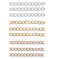 50 шт. Нержавеющаясталь 5 см сварные Расширение цепь золотая удлинитель колье хвоста цепи для бижутерии, материал для рукоделия