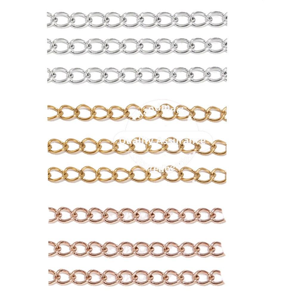 Catene di coda di estensione della collana delloro della catena di estensione saldata 5cm dellacciaio inossidabile 50pcs per la fabbricazione dei gioielli di DIY