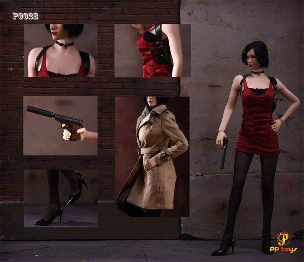 PPtoys P002B 1/6 Female Agent Suit Clothes 12'' Figure Model Toys Doll