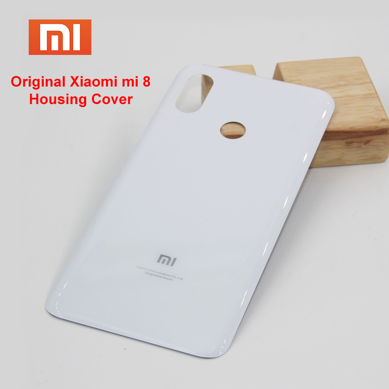 Original <font><b>Xiaomi</b></font> <font><b>mi</b></font> <font><b>8</b></font> mi8 Back <font><b>Battery</b></font> <font><b>Cover</b></font> Glass Rear Door Housing Case Cove Panel Replacement phone case with Adhesive Sticker image