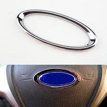 Kierownica samochodu błyszczący dekoracyjny Box etui z uchwytem na palec dla Ford Focus 2 3 4 Fiesta Mondeo Ecosport Escape akcesoria samochodowe
