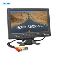 DIYKIT 9 inch TFT LCD Car Monitor Display Car Reverse Rear View Monitor Screen with BNC / AV Input Remote Control DVD VCR