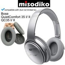 Misodiko Ersatz Ohr Pads Kissen für Bose Ruhigen Komfort 35 (QC35) und QuietComfort 35 II (QC35 II) Kopfhörer Ohrpolster Tasse