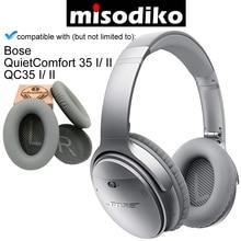 Misodiko yedek kulak pedleri minderler Bose sessiz konfor 35 (QC35) ve QuietComfort 35 II (QC35 II) kulaklık Earpads kupası
