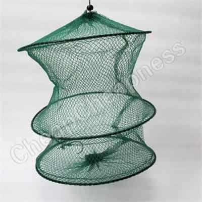 2016 Neue Faltbare Crab Fish Crawdad Garnelen Minnow Angeln Köder Falle Dip Net Käfig Spezielle Zipper Nylon Fischernetz Käfig