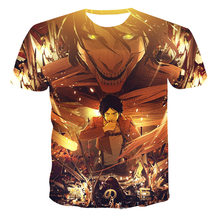 The New Summer 2021 3d Animation Coolt Shirt Casual Wear Comfortable Breathable O Collar Short Sleeve Large Size 110-6xl Can Be