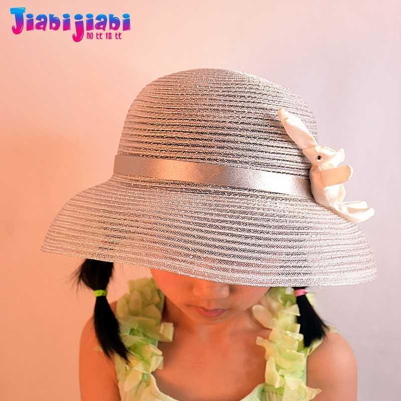 ACVIP Little Girls Princess Bunny Shaped Summer Bucket Hat Sun Protection