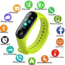 Наручные часы для фитнеса m3 цветной экран умный спортивный