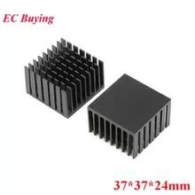 5PCS Heatsink 37*37*24mm Aluminum Chip for IC LED Power Transistor Heatsink