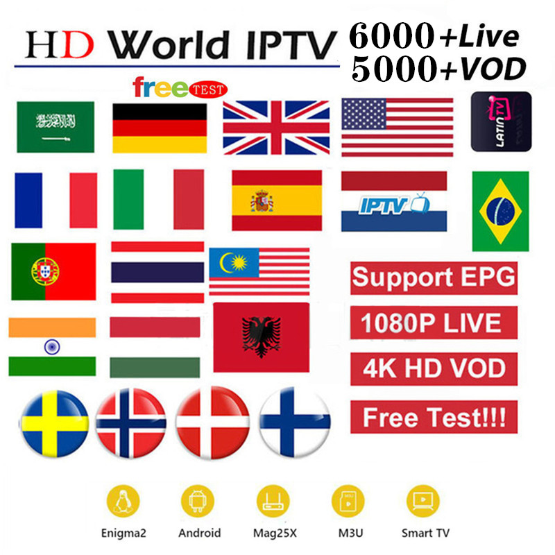 IPTV 6000+ Live Channels And Vod 4k HD Best EUROPE XXX IPTV Arabic Sweden UK USA French America IPTV For M3U Android Apk
