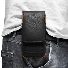 Universal Mobile Phone Waist Bag for Xiaomi Redmi Note 9S/9 Pro/9 Pro Max Luxury Leather Belt Clip Phone Case