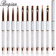 BQAN – Pinceaux à motif marbre pour manucure, outils d'extension d'ongles, brosses pour vernis gel UV, stylos liner pour faire des dessins,