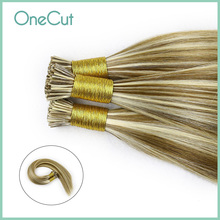 Straight Stick I Tip Remy Human Hair Extensions Natural Machine Made Muti-Color Keartin Pre Bonded Fusion Hair