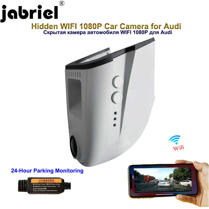 Jabriel Hidden 1080P Car Camera dash cam 24 Hour Recorder for audi a4 b6 b7 b8 a6 c5 c6 c7 q3 q5 q7 a5 a7 a8 with light sensor