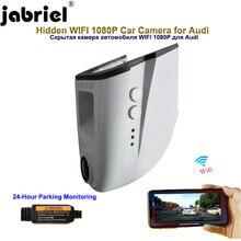 Jabriel câmera automotiva oculta 1080p, para audi a4 b6 b7 b8 a6 c5 c6 c7 q3 q5 q7 a5 a7 a8 com sensor de luz