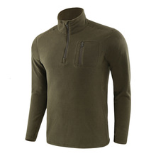 Autumn Winter Windproof Pullover Tops Men's Outdoor Hiking Warm Fleece Jacket Liner Army Fans Military Training Tactical T-shirt