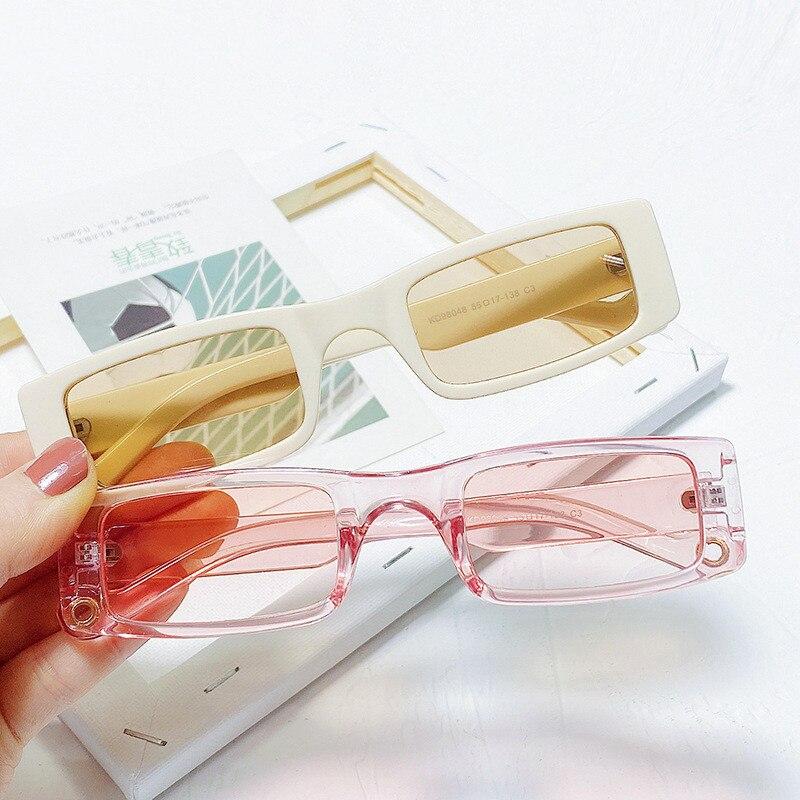 Мода небольшая прямоугольная солнцезащитные очки Для женщин 2021 Y2k стимпанк 90s солнцезащитные очки UV400 в готическом стиле; Праздничная одежд...