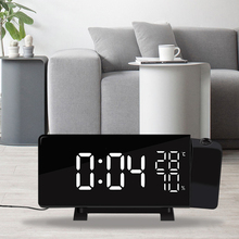Alarm-Clock Projection Led-Display Usb-Charging-Temperature-Humidity Fm-Radio Electronic-Table