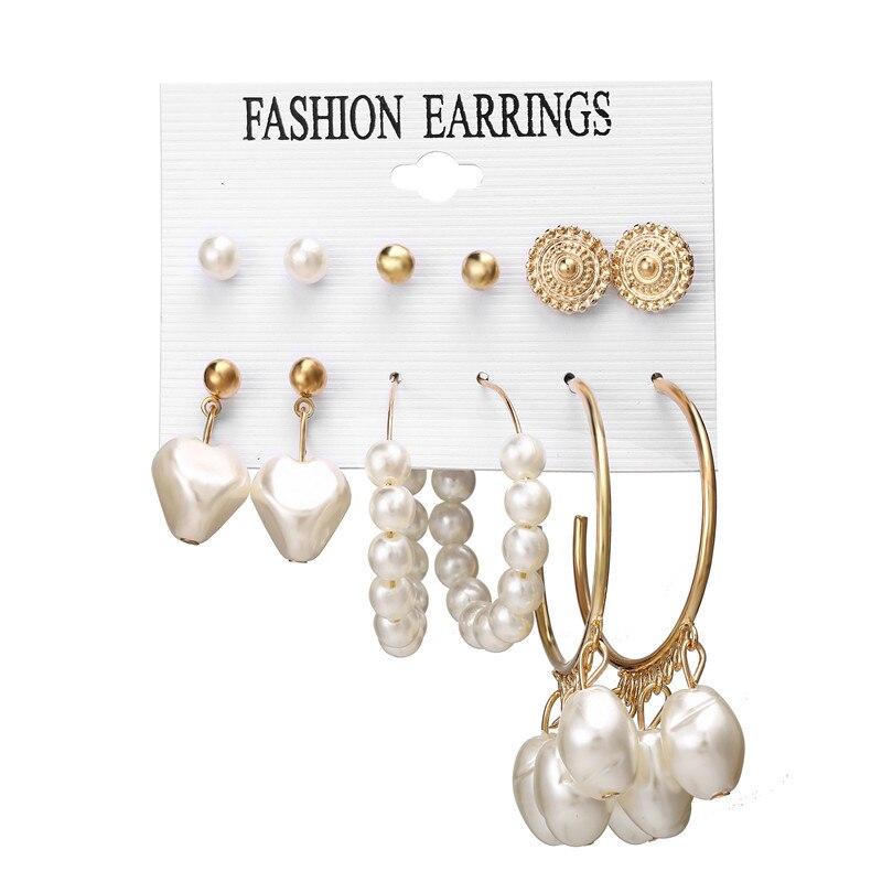 17 км акриловые серьги с кисточками для женщин, богемные серьги, набор больших геометрических висячих сережек Brincos, Женские Ювелирные изделия DIY - Окраска металла: Earrings Set 9