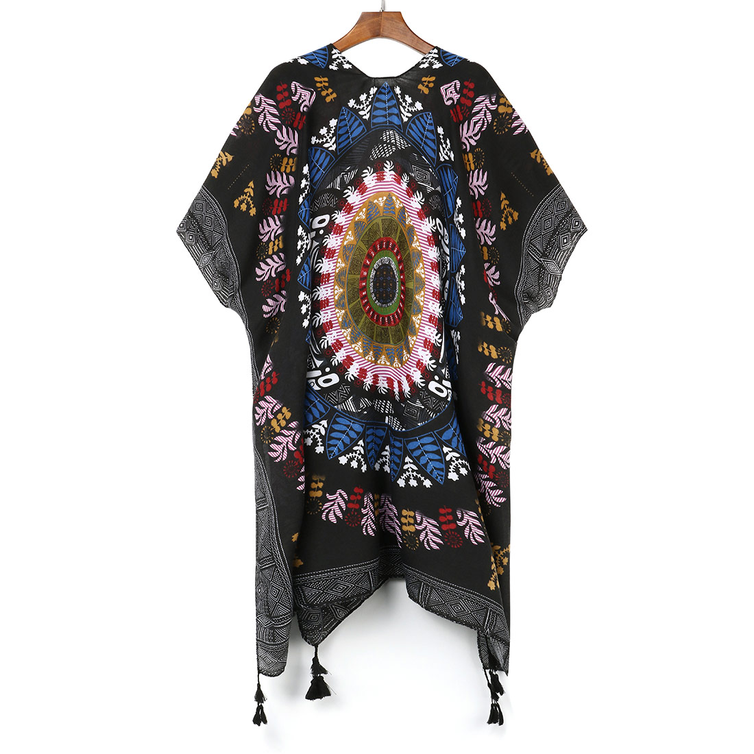 Boho Irregular Printed Kimono Cardigan Summer Women Blusas Casual Loose Bohemian Blouse Shirts Women Chiffon Beach Cover Up