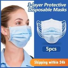 FUERS 5/10/20/40/60/80/100 pièces masques antibactérien tympan non tissé jetable masque protection