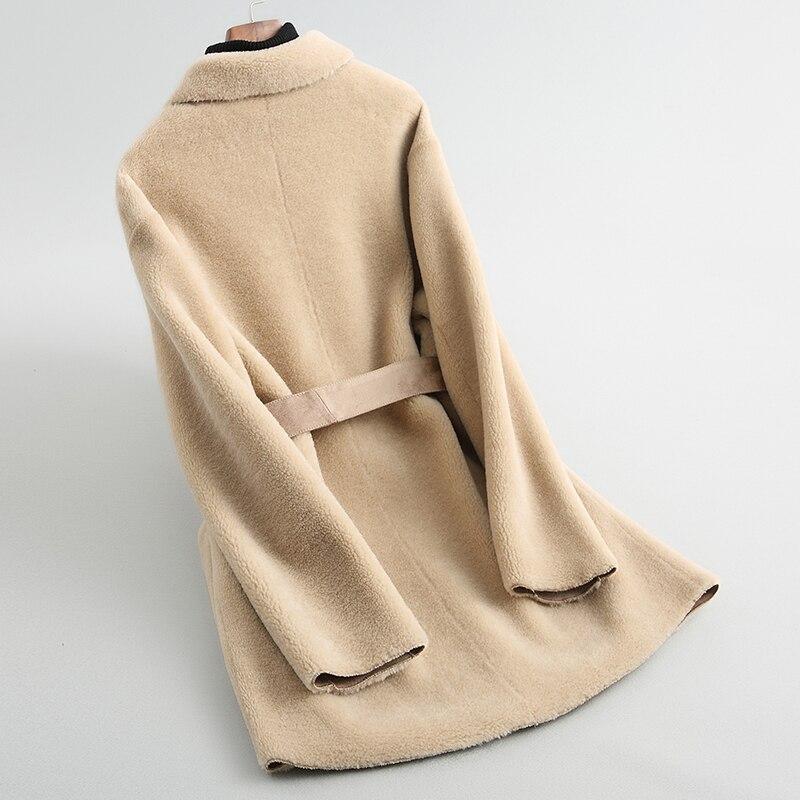 Coat Fur Real Women Clothes 2020 Sheep Shearing Wool Fur Coats Autumn Winter Jacket For Women Korean Clothes Y536 KJ2882 S