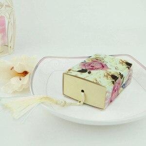 Image 3 - Коробка для конфет, ящик для формирования предметов, женская коробка для цветов, Подарочная коробка для свадебных сувениров, шоколадная сумка, романтичная Свадебная коробка, 50 шт.