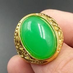 Натурального нефрита в малайские нефритовые изумрудно-Ян, зеленый; сезон лето; большие яичная лапша нефрита кольцо золотой поднос (Цвет