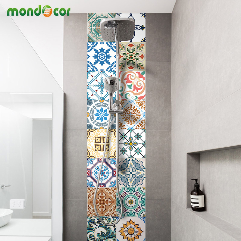 Creative Self Adhesive PVC Tile Wallpaper For Bedroom Waterproof Contact Paper Art Diagonal Floor Stickers DIY Home Decor Mural